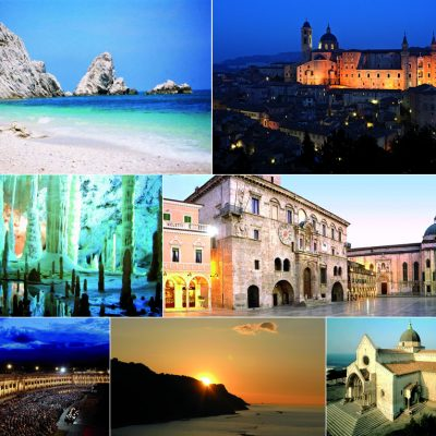 What to do on holiday in the Marche region. Ten top things you can't miss in Marche, Italy. Places to see, historical treasures, beaches and much more.